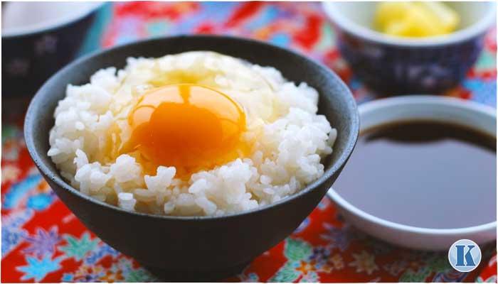 卵かけごはんの朝食